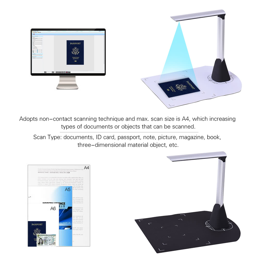 Definition Modular Classroom : Portable high speed usb book image document camera scanner