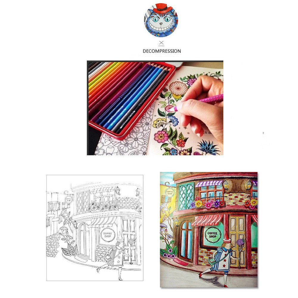 24 Pages Relieve Stress For Children Adult Funny Painting Drawing