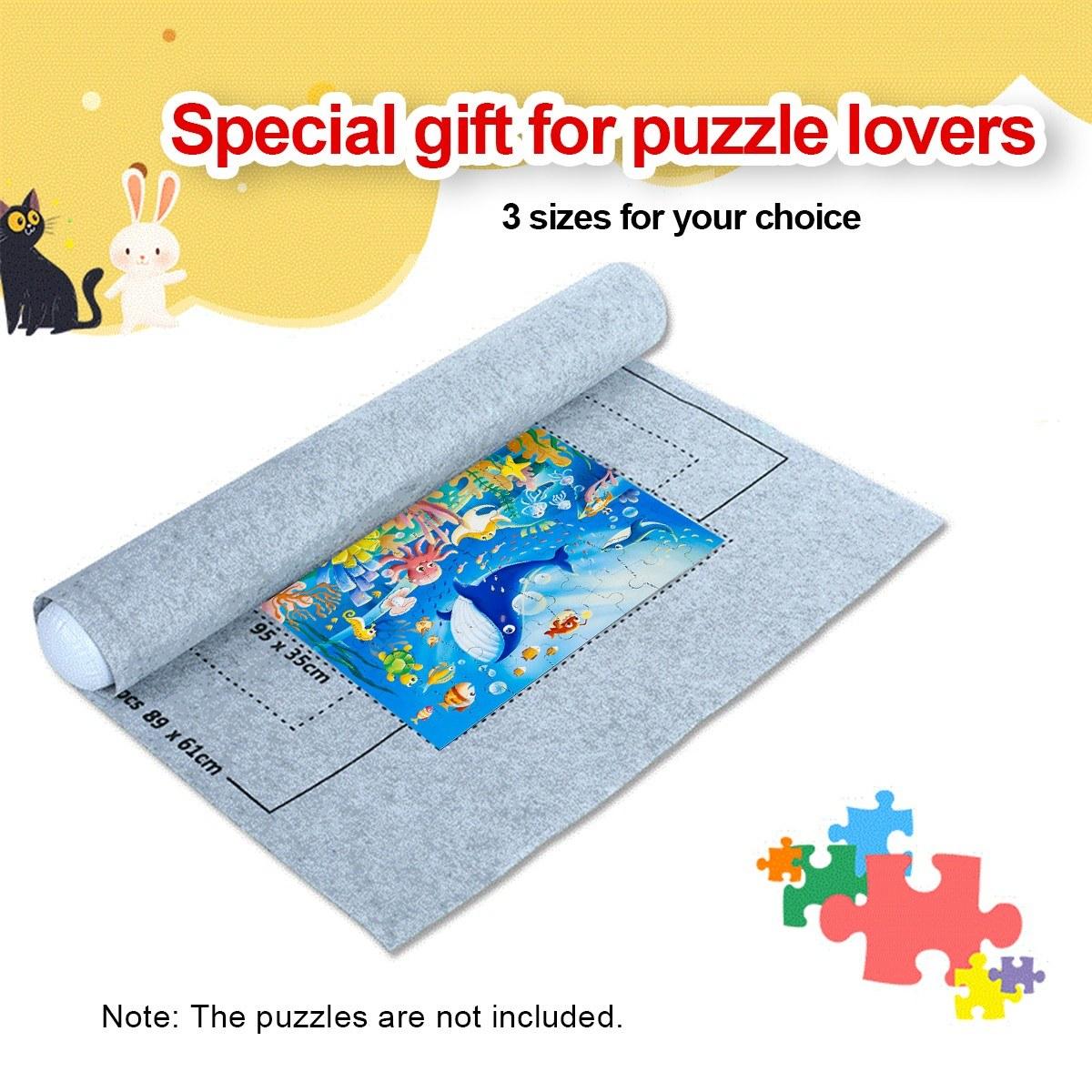 1500 Stück Puzzle Aufbewahrungsmatte Roll Up Puzzle Filz Spiel 26*46 Mat Kinder