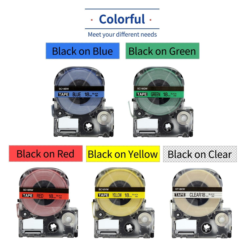 5/rollos Repuesto de etiquetas para impresora de etiquetas