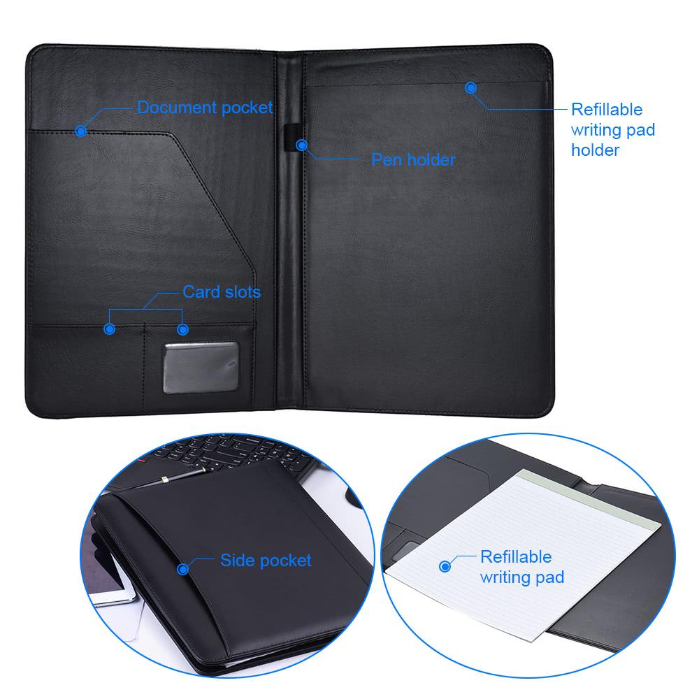 Multifunctional Business Portfolio Padfolio Folder Document Case ...