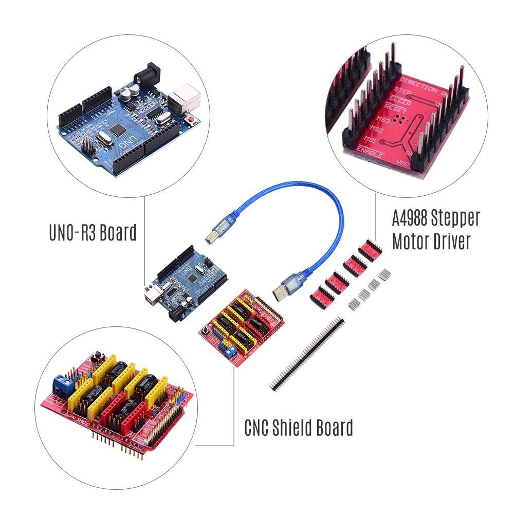 R3 BT A4988 3D printer kit Accessories CNC Shield V3 Expansion Board