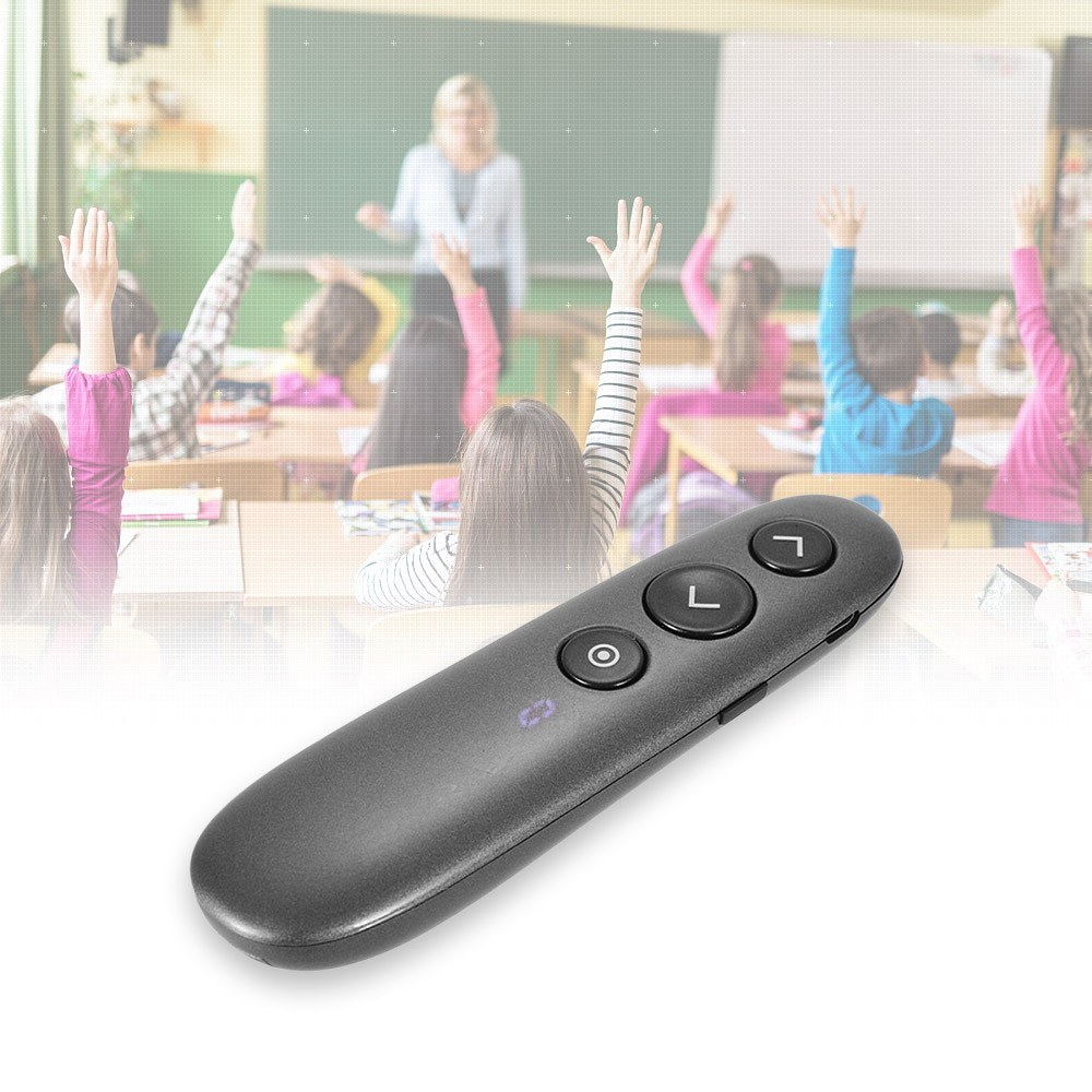 2 4G Wireless Presenter Rechargeable Presentation Remote Control Pen PPT  Powerpoint Clicker Timer/Receiver Anti-lost Function Support Hyperlink for