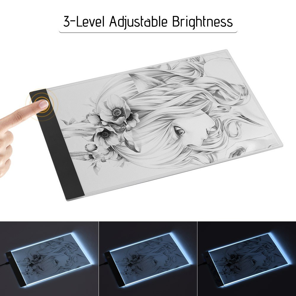 A4 LED Light Box Tracer Drawing Board Copy Board Pad 3 5mm Ultra-Thin Sales  Online balck - Tomtop
