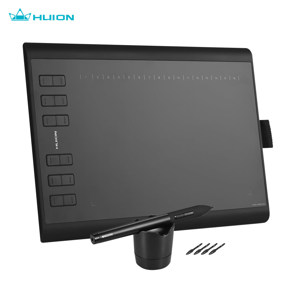 huion 1060plus portable drawing graphics tablet for. Black Bedroom Furniture Sets. Home Design Ideas
