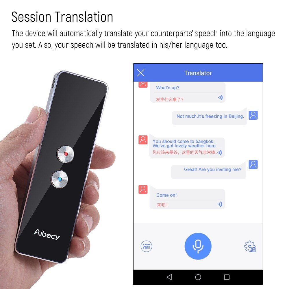 English To Italian Translator Google: Best Aibecy Real-time 40 Languages Translator Speech/ Text