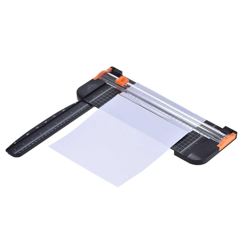 portable a4 paper trimmer cutters guillotine with pull out ruler for photo paper labels cutting. Black Bedroom Furniture Sets. Home Design Ideas