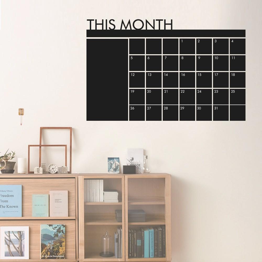 Wandaufkleber abnehmbare charlkboard kalender wandtattoo monat kalender memoboard tafel - Wandtattoo tafel ...
