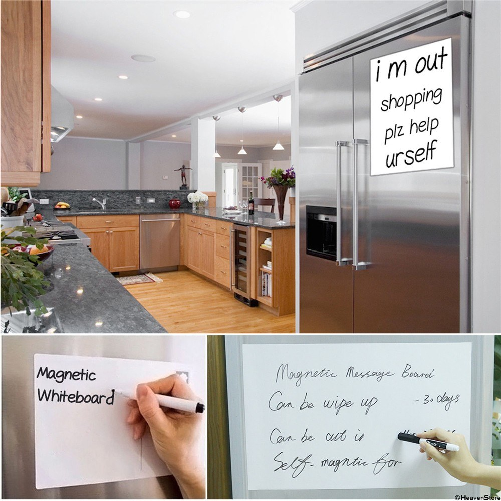 30 21cm soft magnetic dry erase whiteboard pet film message board