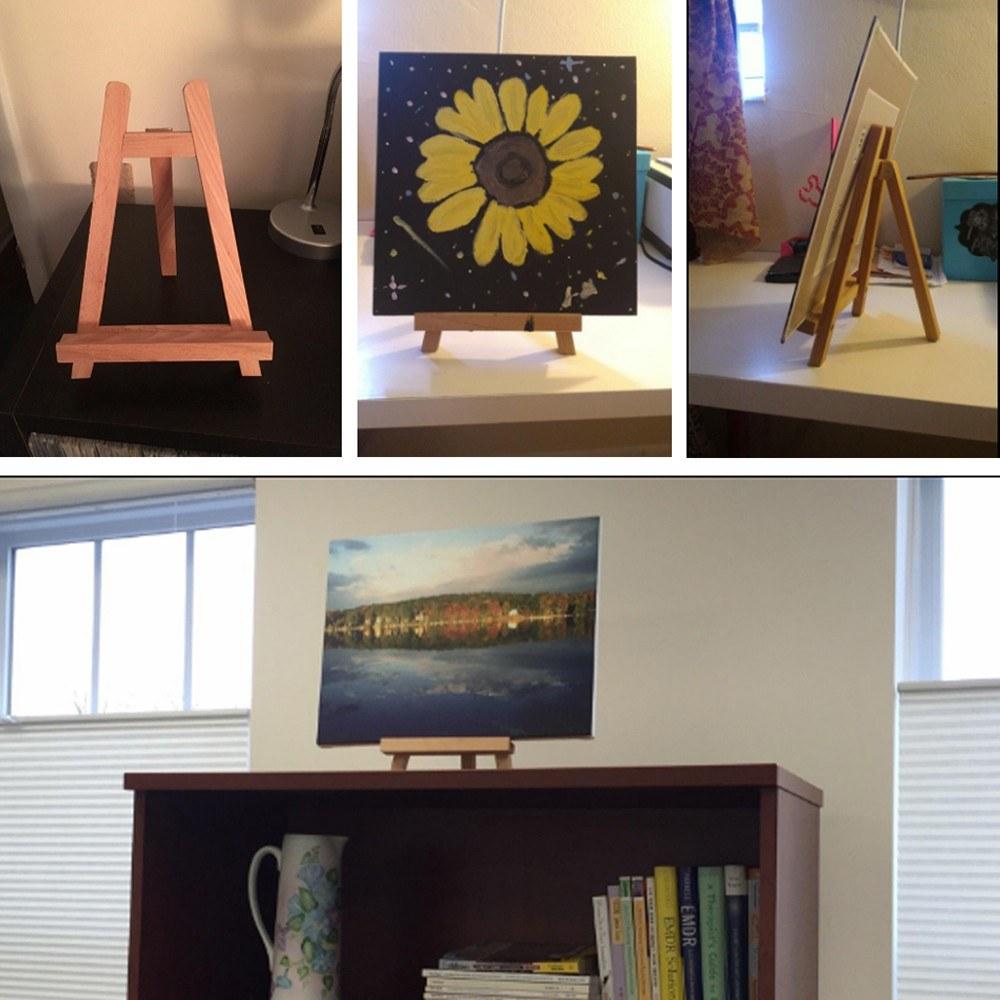 Kleine Tischplatte Mini Holz Künstler Rahmen Foto Malerei Display ...