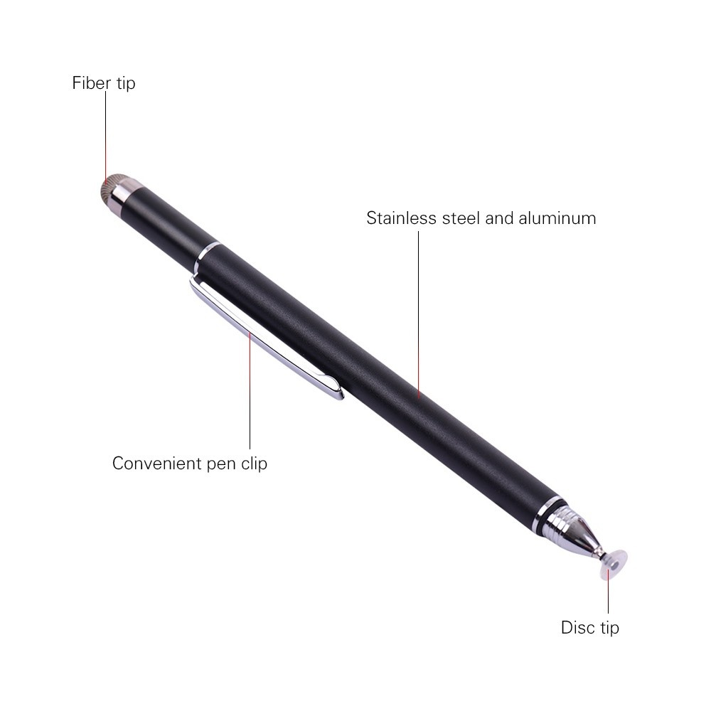 Universal 2 in 1 Stylus Pens with Fiber Tip and Disc Tip Precision Pen