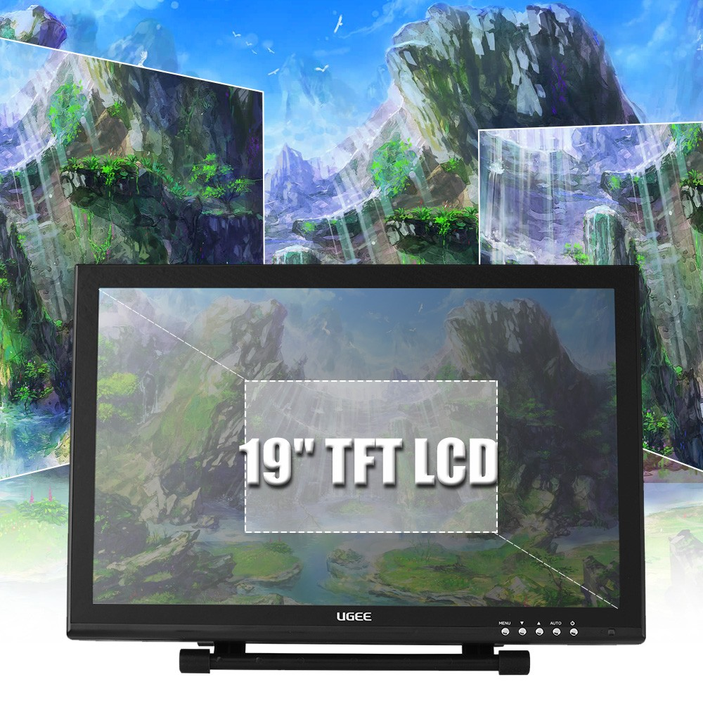 Ugee 1910B 19 Inch 2048 Levels Pen display Drawing monitor Graphics Tablets  for Mac and PC