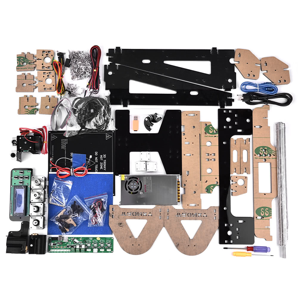 High Precision Desktop 3d Printer Kits Diy Self Assembly Acrylic Dvr Block Diagram Projector Frame Reprap Prusa I3 With Tf Card Max Printing Size 220220240mm Support