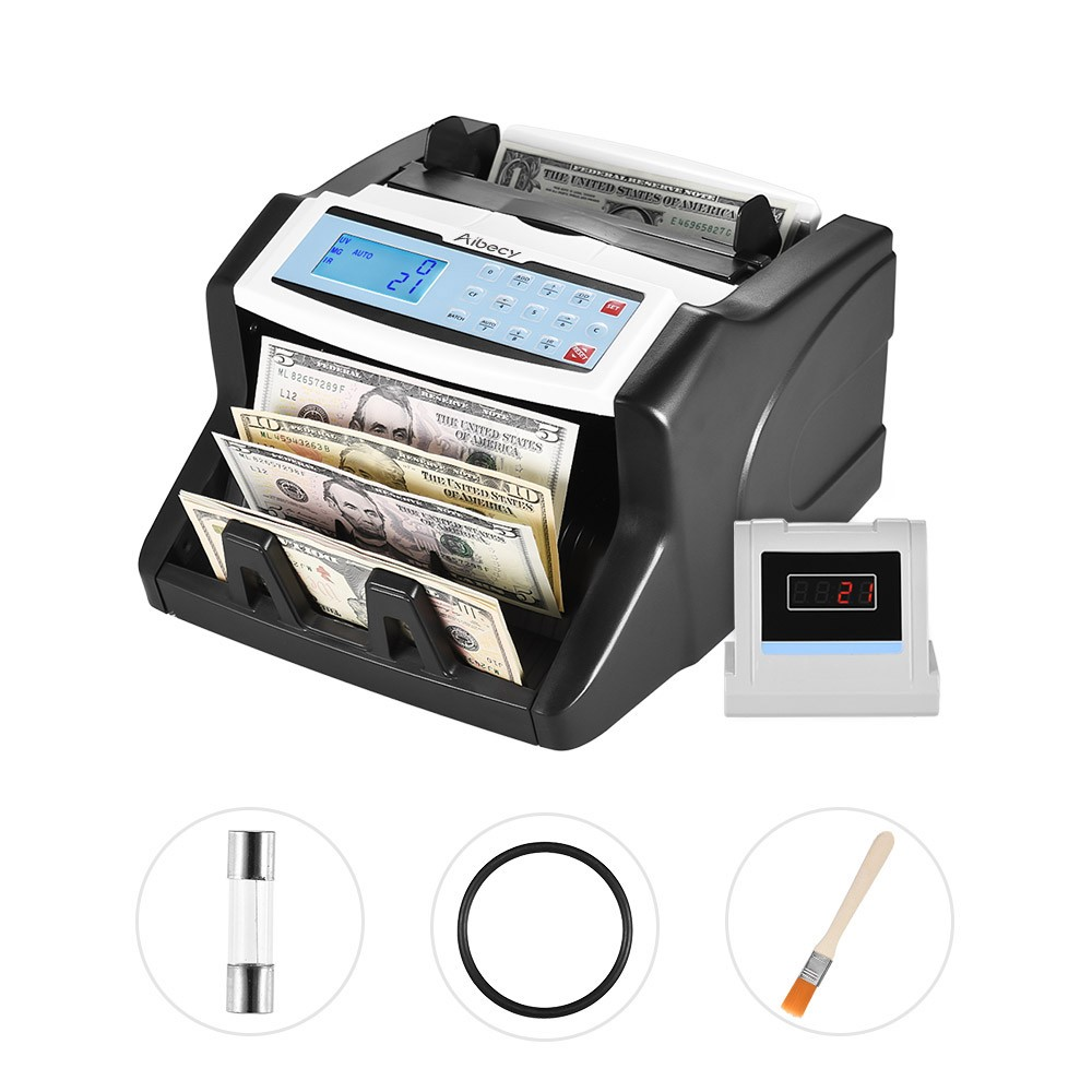 Aibecy Automatic Multi-currency Banknote Counter for US Dollar Euro Pound AUD HKD Ruble Sales ...