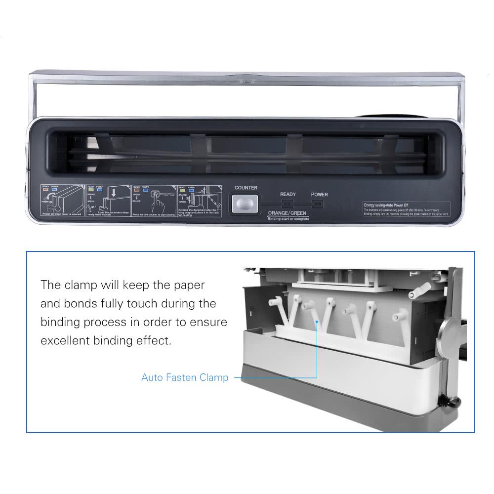DSB TB-200E A4 Paper Book Thermal Binder Binding Machine