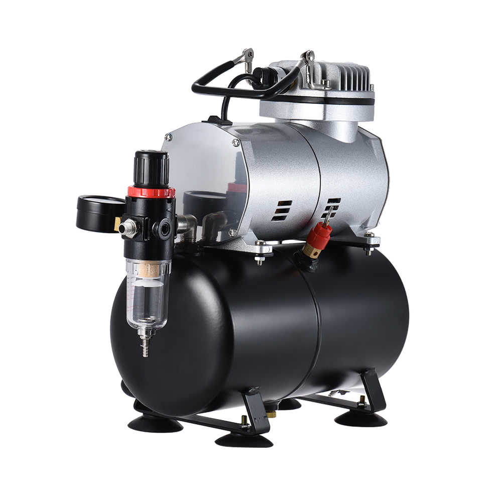 Professional Airbrush Air Compressor Kit with Dual-action Gravity Feed Airbrush& Suction Feed Airbrush for Model Tattoo Makeup Cake Decorating Body Art ...