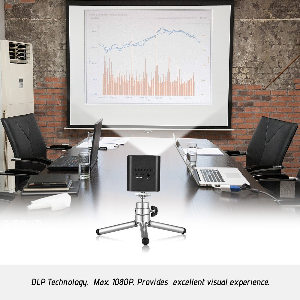 Orimag P6 Mini Smart Projector DLP Projector 1080P Resolution Supported Max 220 Inches Screen