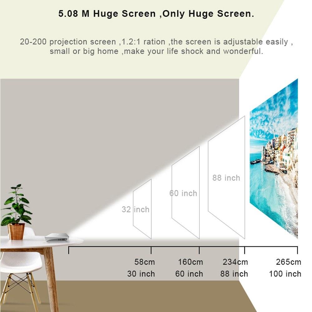 Orimag P9 Mini Projector Portable DLP Video Projector 1920*1080/4K resolution / High Brightness