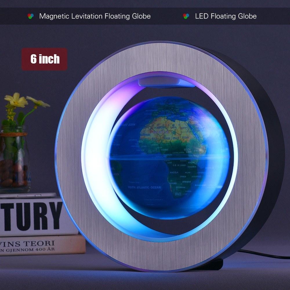 Best 6 Inch Magnetic Levitation Floating Earth Globe World dark blue other  Sale Online Shopping | Cafago com