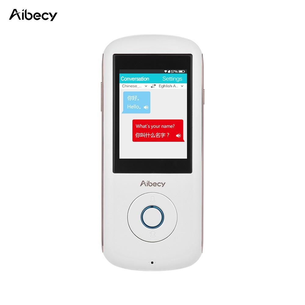Best Aibecy Real-time Multi Language Translator Speech Translation white  Sale Online Shopping   Cafago com