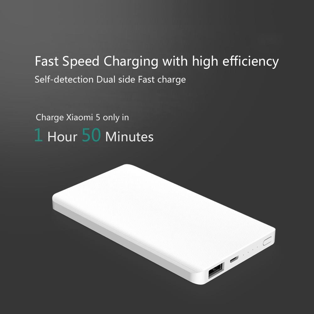 Original Xiaomi ZMI 5000mAh Power Bank External Battery Two-way Quick Charge 2.0 for iPhone iPad Samsung Portable Powerbank