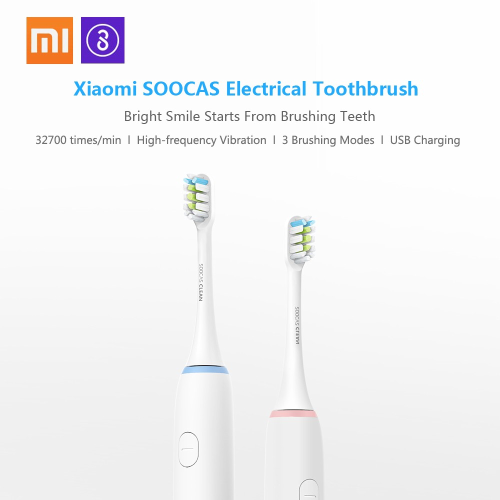 Xiaomi Soocare Soocas Waterproof Electric Toothbrush Rechargeable Sonic Toothbrush
