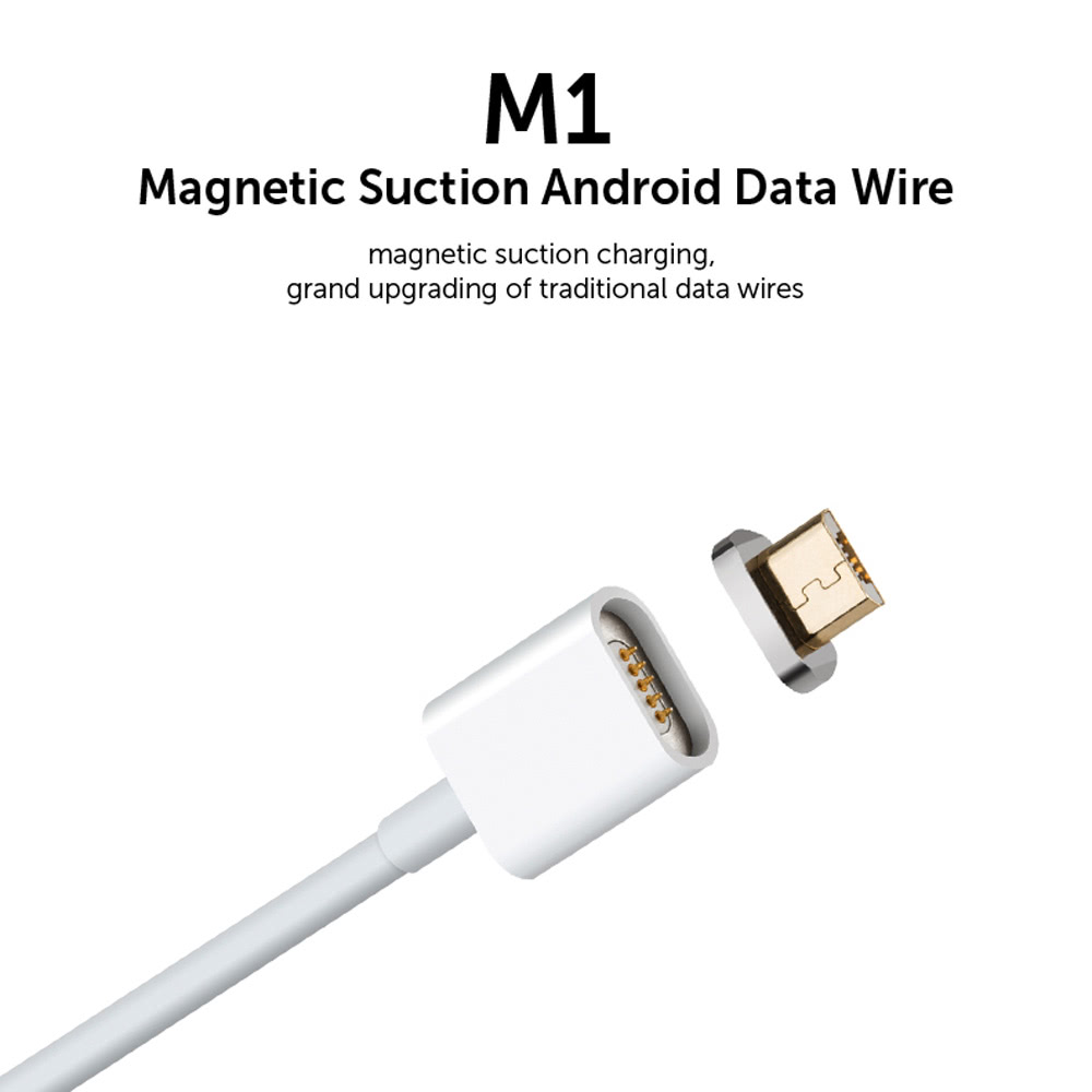 M1 Metal Magnetic Micro Usb Charging Cable Suction Android Data Wire Wiring Connector 20 Intelligent Sync Charger Cord Quick Anti Dust Plug Both Side