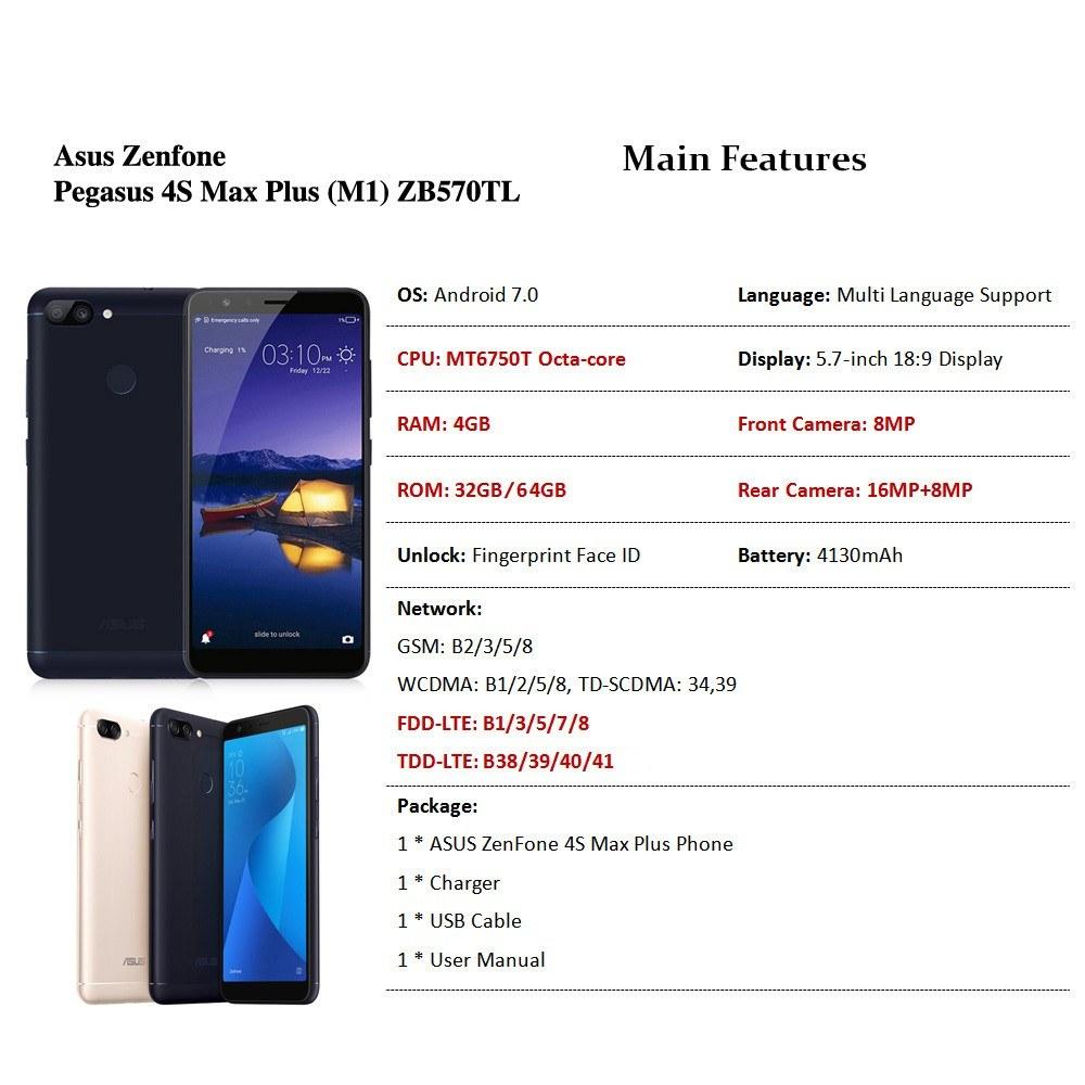 Asus Zenfone Pegasus 4s Max Plus M1 Zb570tl 4g Mobile