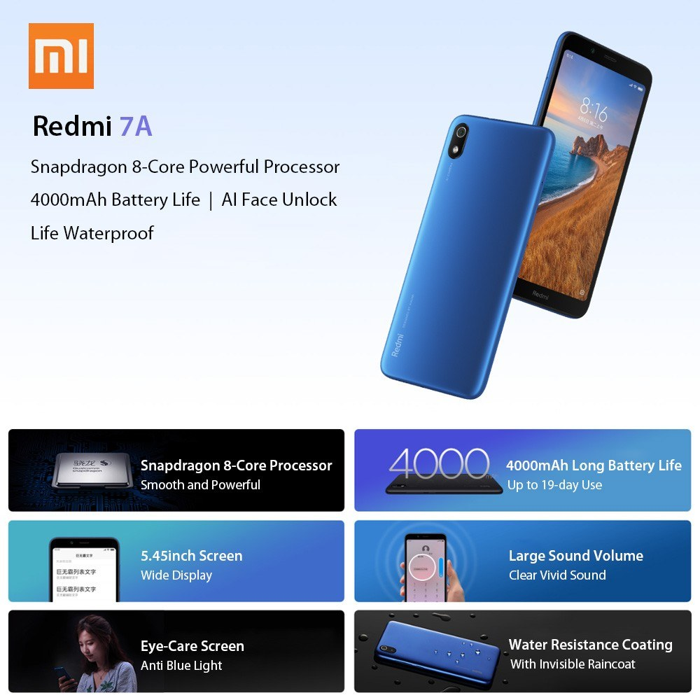 Global Version Xiaomi Redmi 7A Mobile Phone
