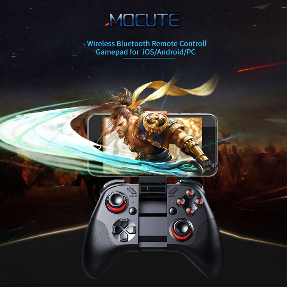 Original MOCUTE 054 BT Game Console Remote Control Gamepad Android Joystick Mini Portable Wireless BT Controller VR Video Music Control Wireless Mouse ...