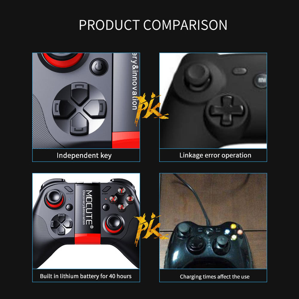Original MOCUTE 054 BT Game Console Remote Control Gamepad Android Joystick  Mini Portable Wireless BT Controller VR Video Music Control Wireless Mouse