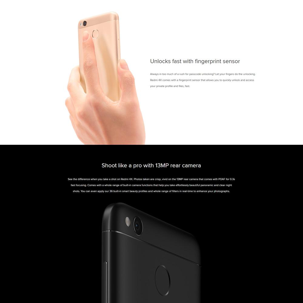 Xiaomi Redmi 4x Fingerprint 4g Smartphone 5 Hd 2gb Ram 16gb Rom Gold Us12999 Sales Online Pink Us Tomtop