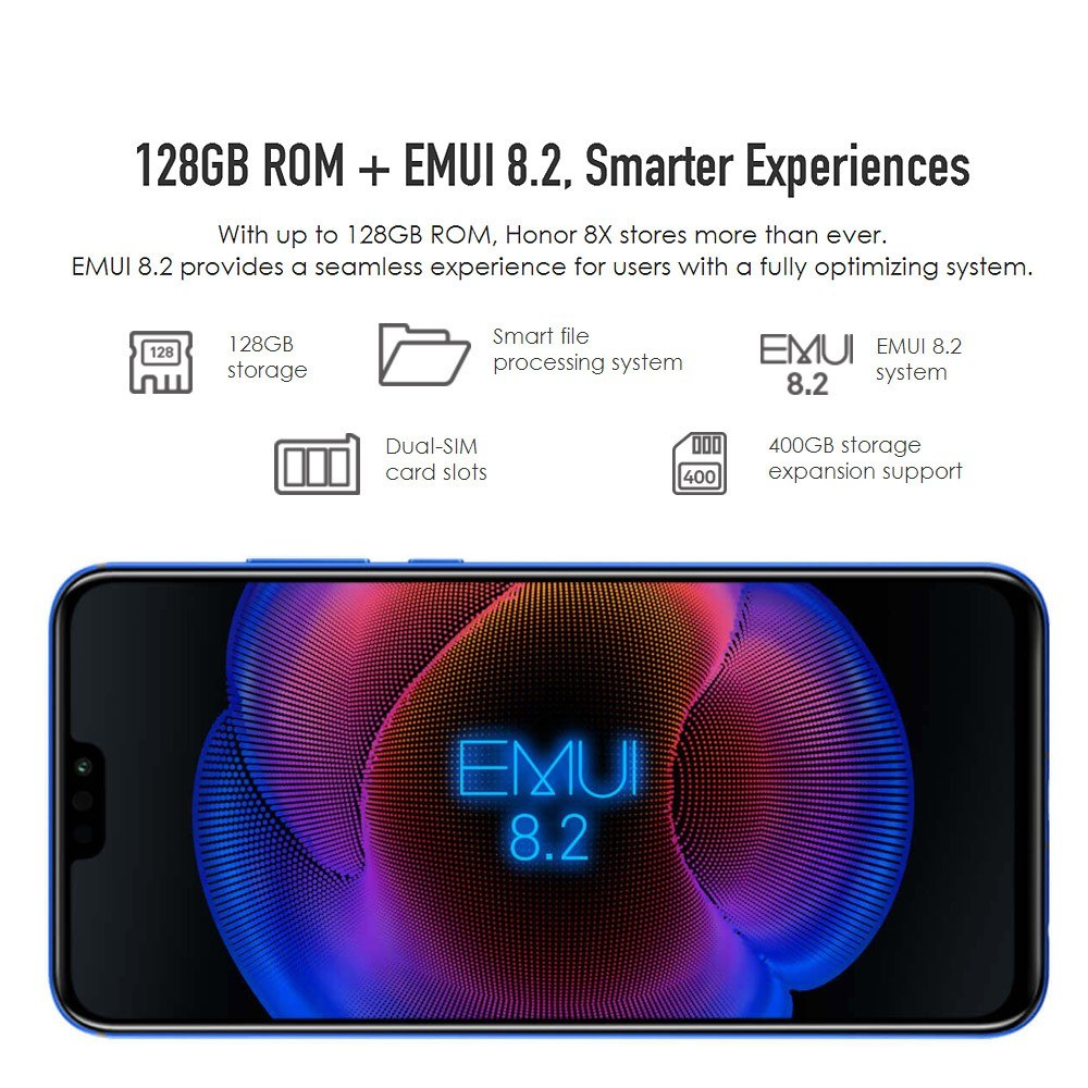Global Version Huawei Honor 8X Face ID Smartphone - US
