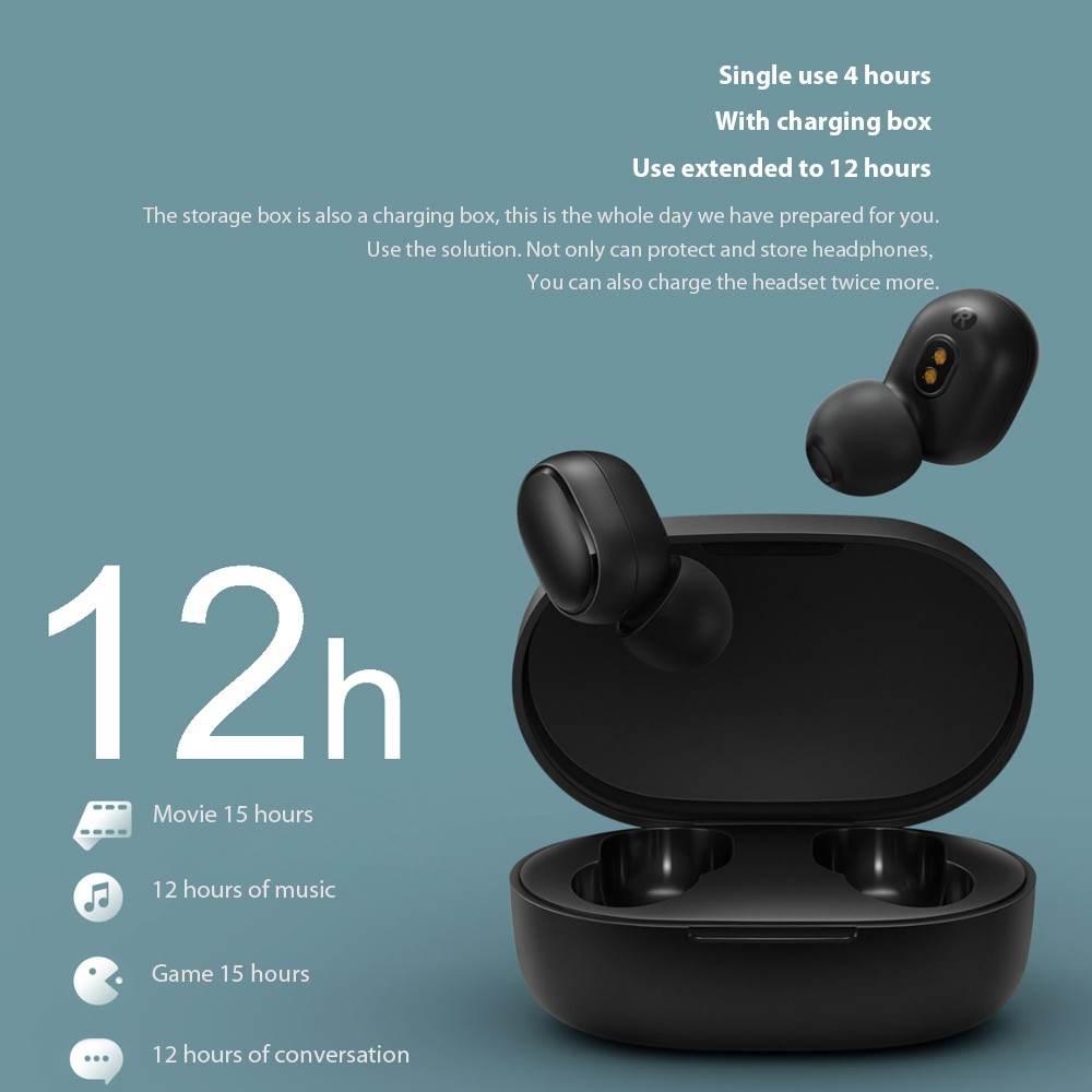 Best Xiaomi Redmi AirDots with Dual Microphone and Charging Sale Online  Shopping black | Cafago com