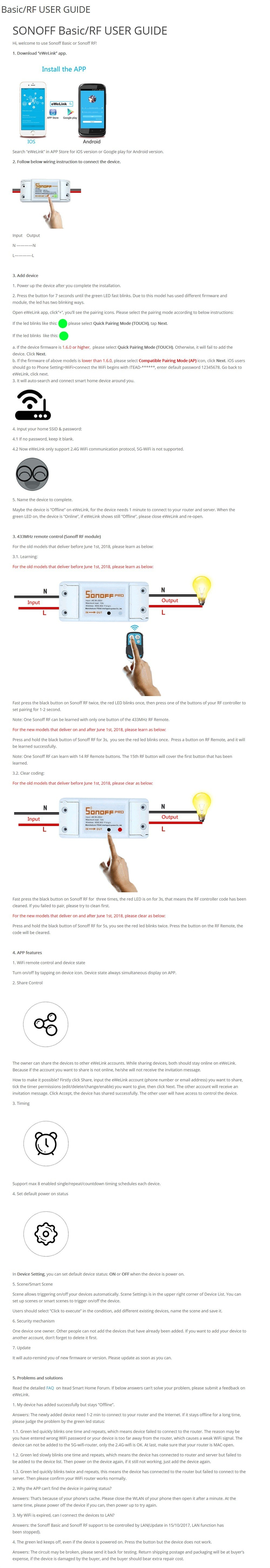 SONOFF 10A Basic WIFI Wireless Switch