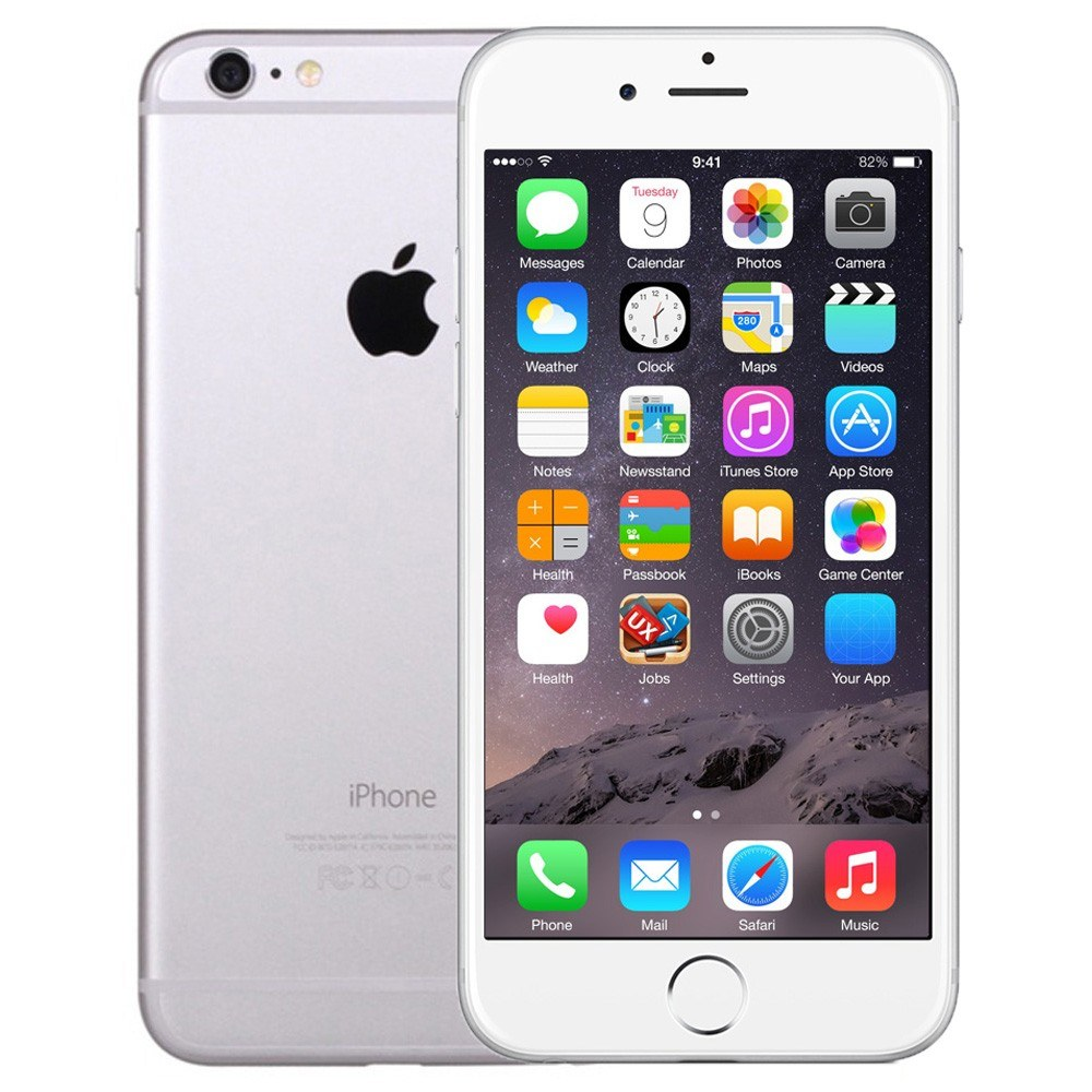 reconditionn apple iphone 6 smartphone 128gb unlocked bon tat argent. Black Bedroom Furniture Sets. Home Design Ideas