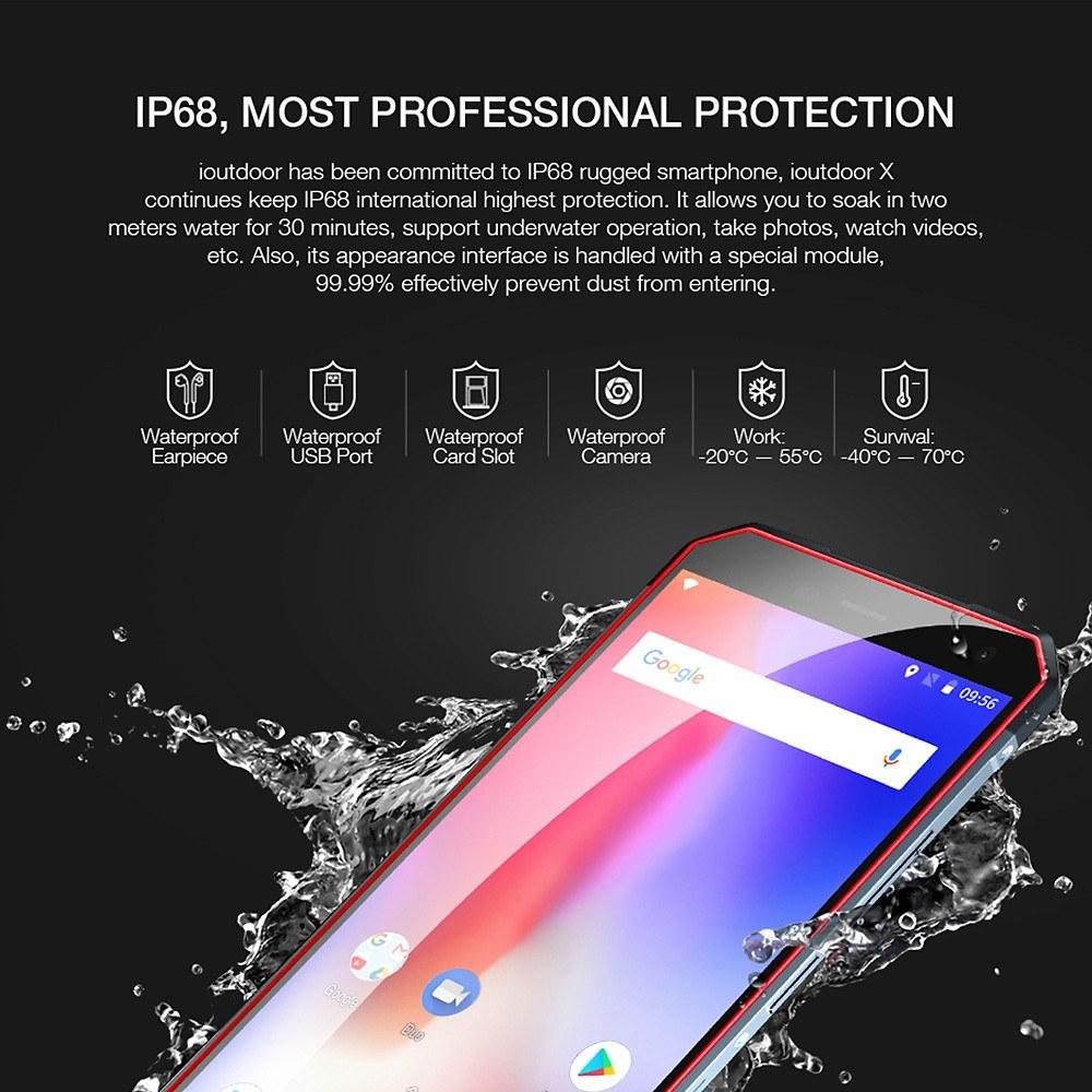 pretty nice 334aa ad382 ioutdoor X IP68 Waterproof 4G Smartphone 6GB+128GB