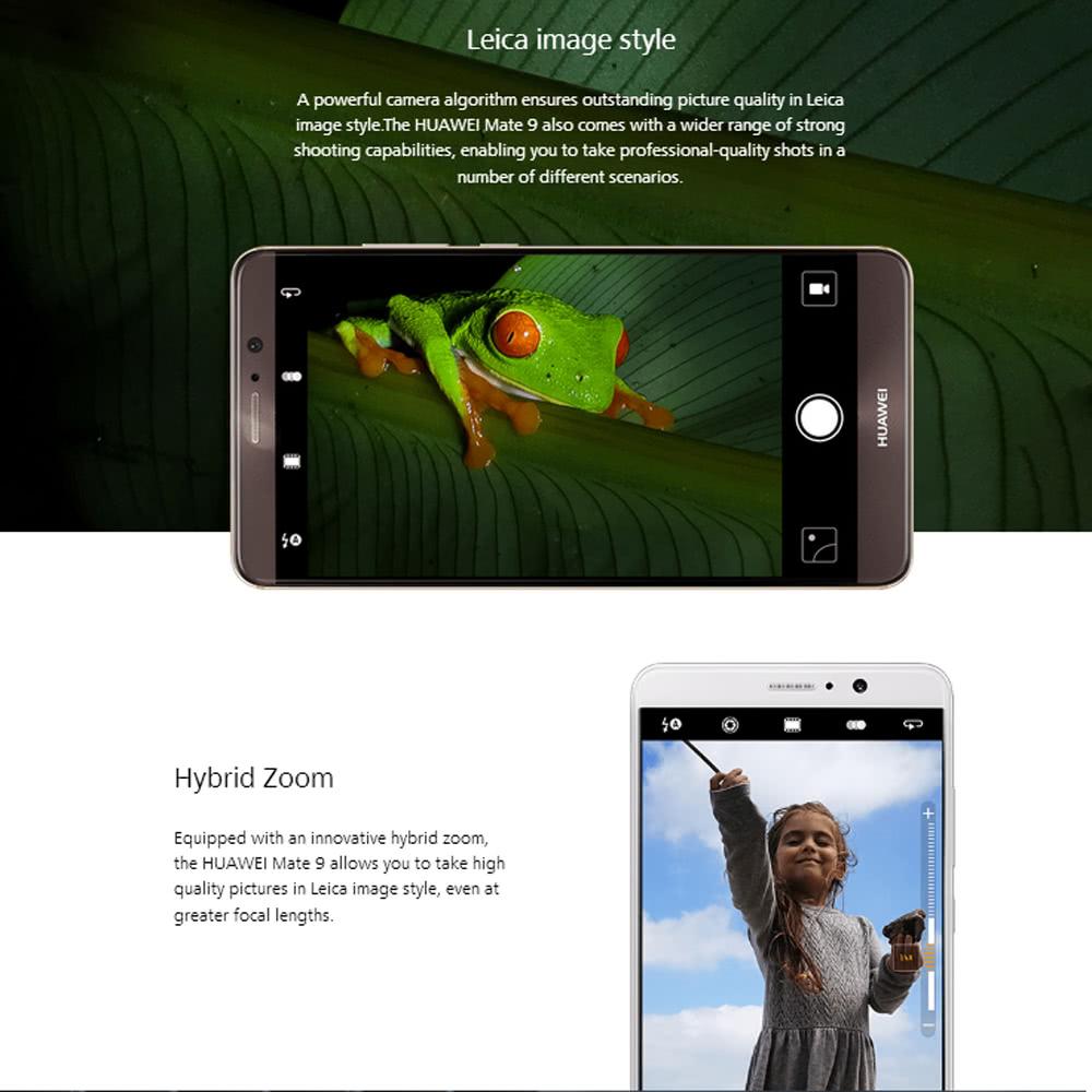 HUAWEI Mate 9 Smartphone 4G Phone 5 9inch TFT FHD 6GB RAM 128GB ROM  20MP+12MPSupport OTA Update