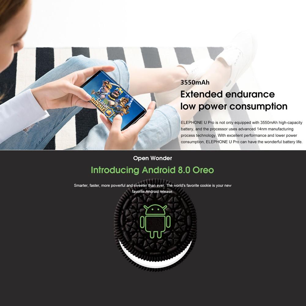 Elephone U Pro 4G Face ID Smartphone 6GB+128GB