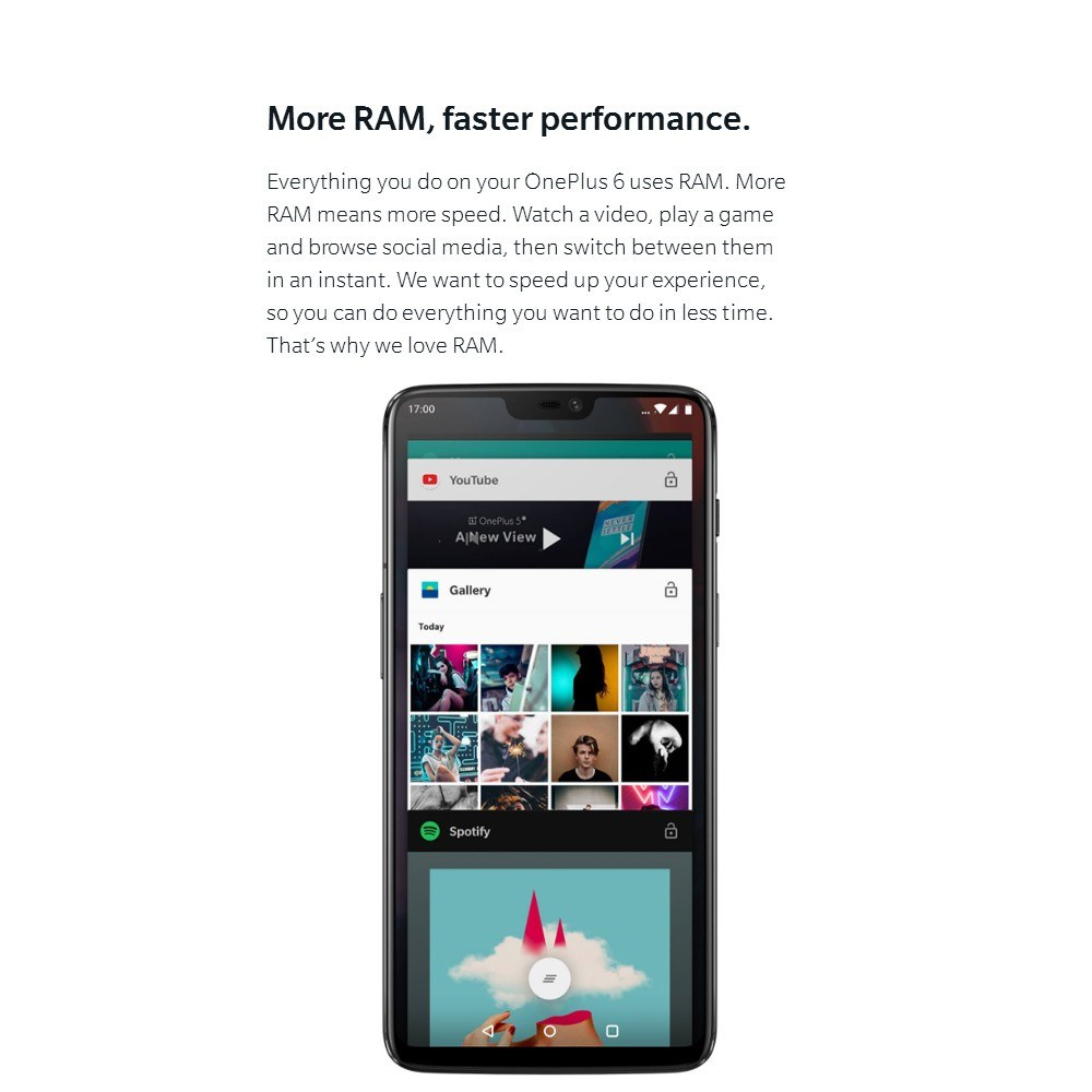 OnePlus 6 6 28 inches Notch Display 6GB 64GB
