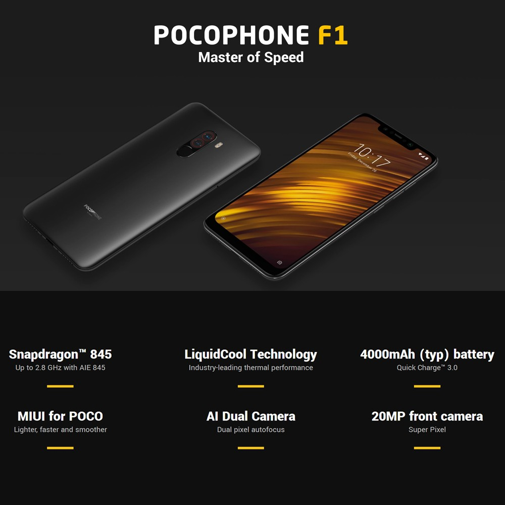 Global Version Xiaomi POCOPHONE F1 Mobile Phone