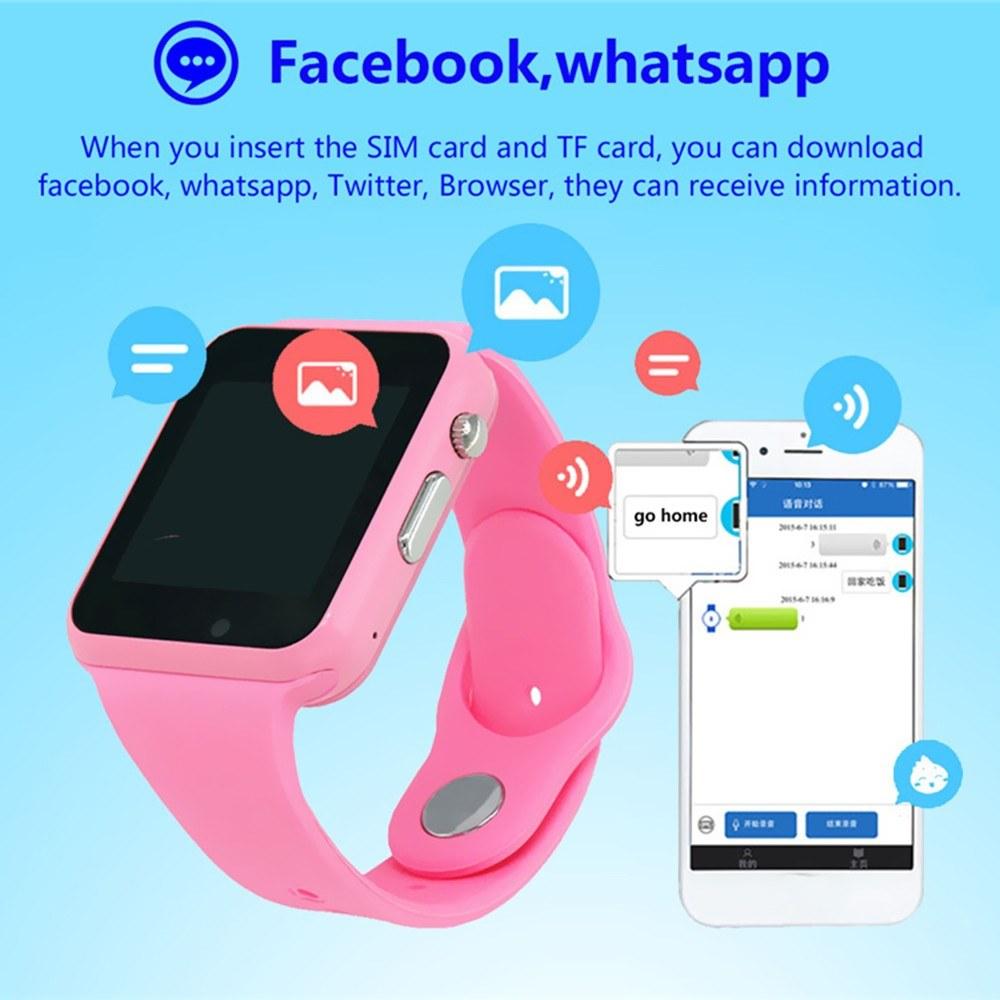 Kids Smart Watch Phone Children Tracker