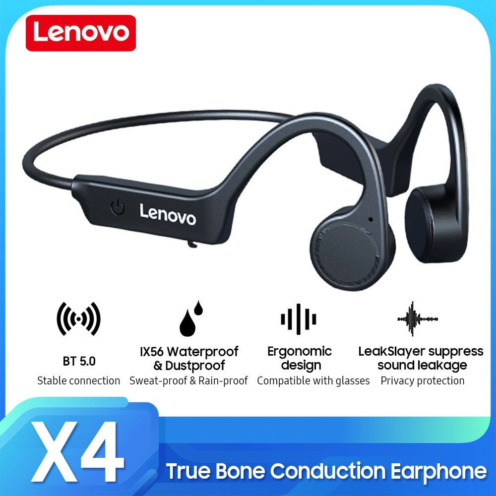 Lenovo X4 True Bone Conduction Earphone TWS Wireless BT5.0 Headset