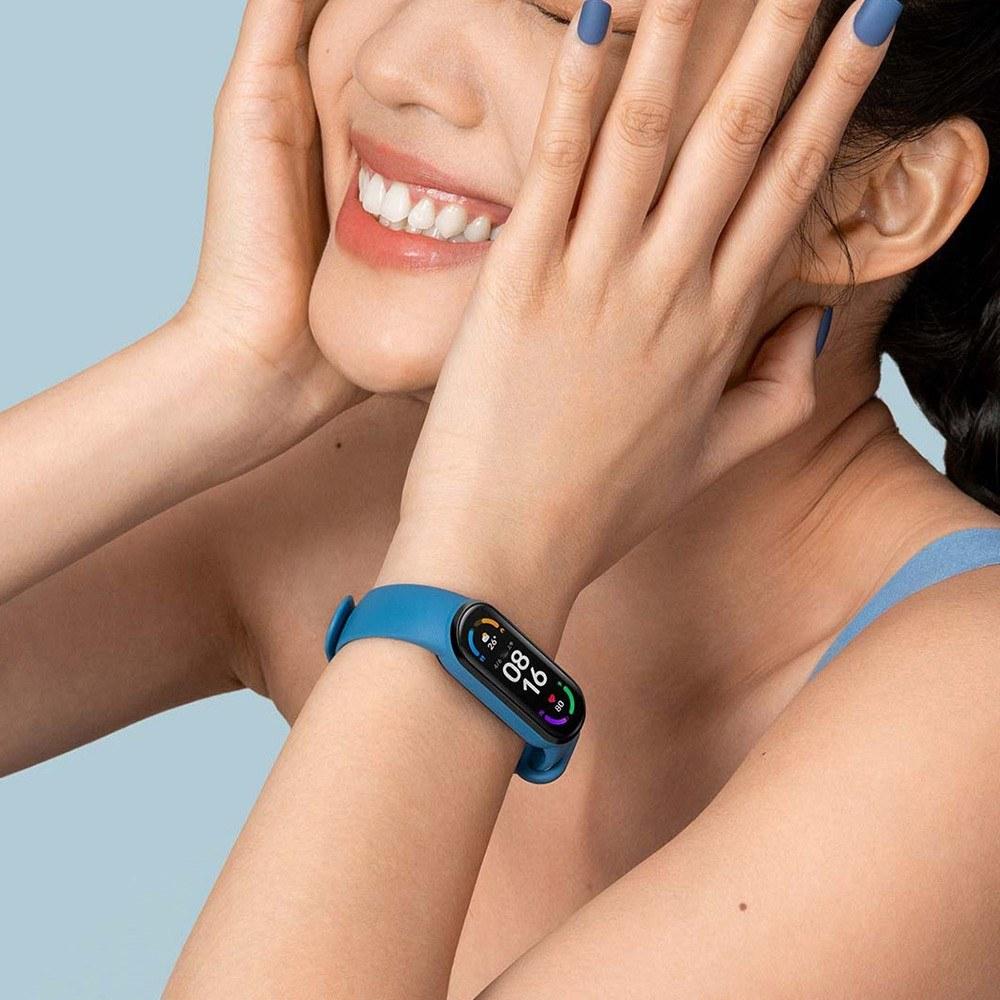 Смарт-часы Xiaomi MI Band 6 с 1,56-дюймовым экраном AMOLED BT5.0 с  фитнес-трекером