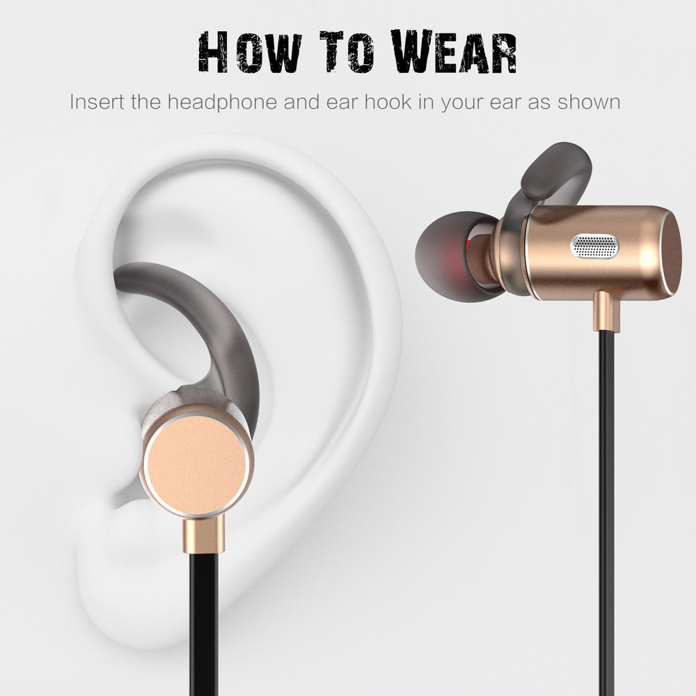 FOZENTO FT3 In-ear Wireless Sport Stereo BT Headphone Headset Running  Earphone Hands-free Pair/Off/On Receive/Hang Music Play/Pause Volume +/-  for