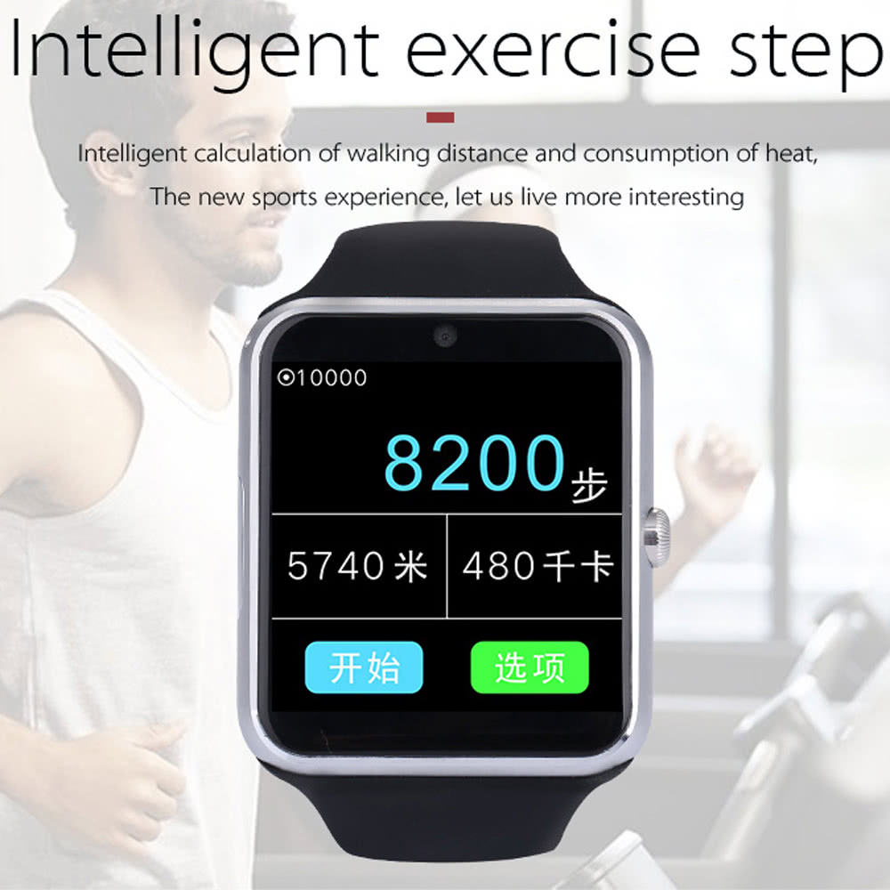 Q7S Plus 2G GSM Heart Rate Smart BT Sport Watch Phone Wristband Bracelet  Call Notification Pedometer Alarm Sleep Monitor for iPhone X / 8 Samsung  Note
