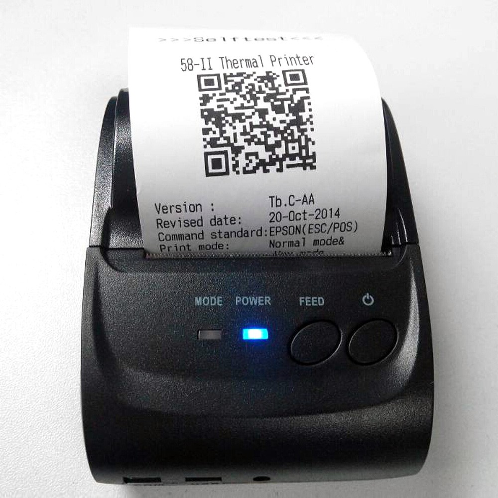 58mm Mini Portable Thermal Printer Thermal Printer Receipt POS-5802LD for  Windows Android Smartphone with BT 4 0 4 3