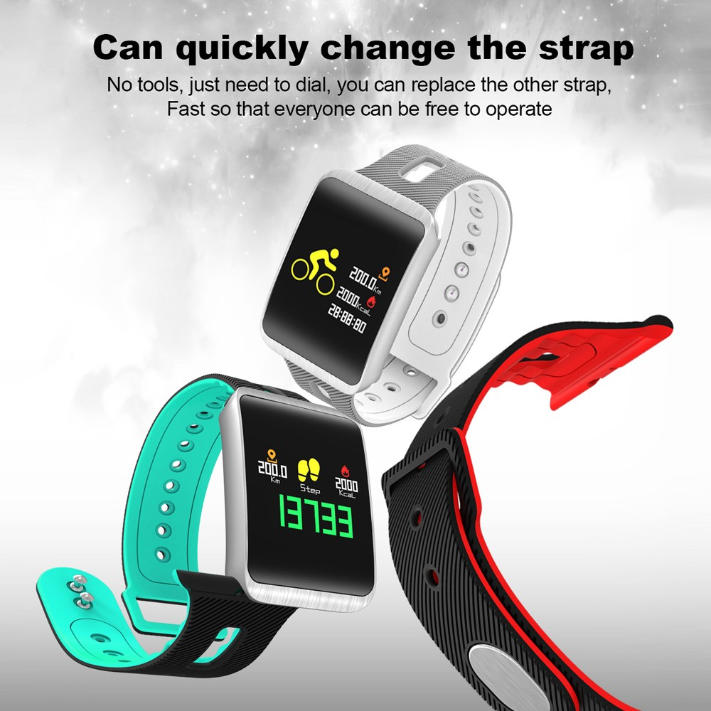Best TF1 Smart Band OLED Touch Screen Motion Heart Rate Blood green Sale  Online Shopping | Cafago com