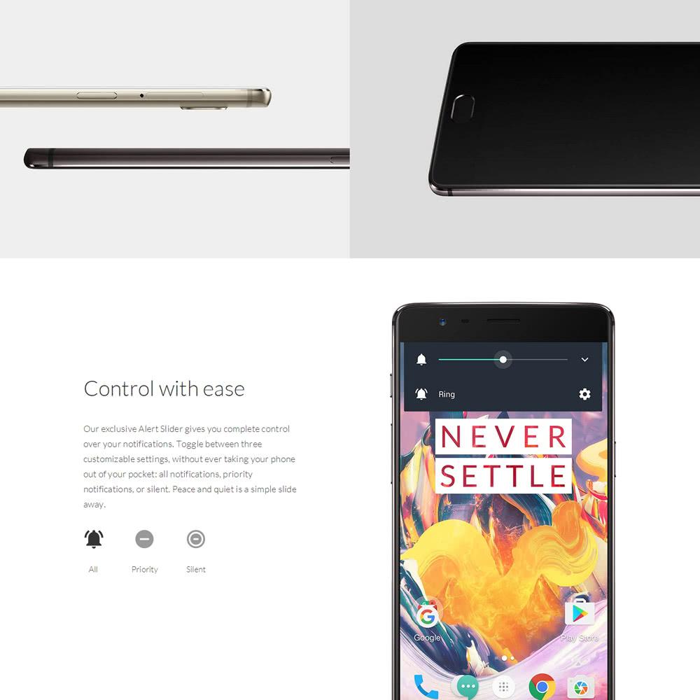 OnePlus 3T 4G Smartphone Qualcomm Snapdragon 821 6GB RAM + 64GB ROM