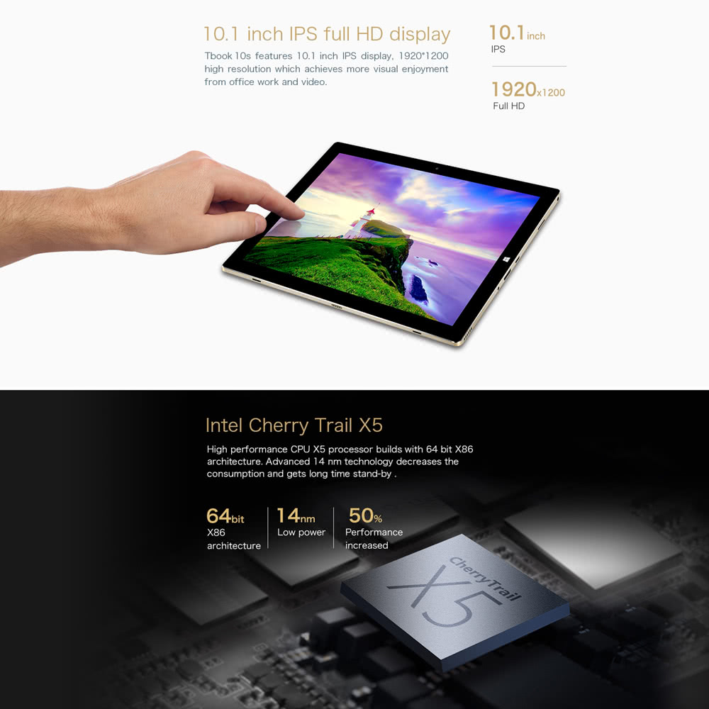 TECLAST Tbook 10 S Tablet PC 10 1inch 4GB RAM 64GB ROM (Keyboard Option)